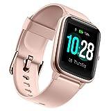 """Ulefone Watch - 50 Días Duración Batería, Reloj Inteligente 5ATM Impermeable, Pantalla 1,3"""", Pulsera Actividad Deportivo, Pulsómetro, Rastreador de Ejercicios Monitor de Sueño para iOS Android Rosado"""