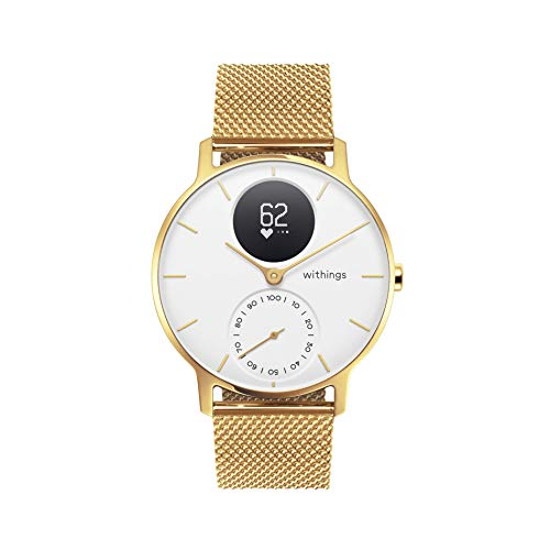 Withings Steel HR Hybrid Smartwatch - Fitnesshorloge met hartslagmeter en activiteitsmeting, 36 mm - Limited Edition, gouden armband