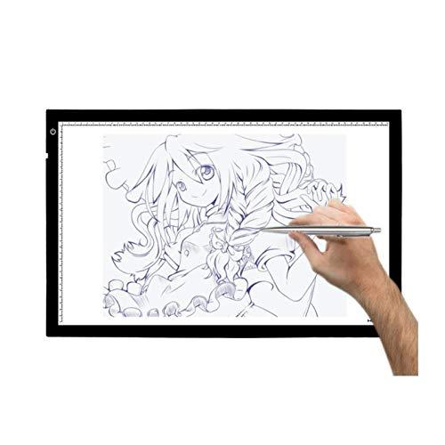 Kuingbhn Tampone da Tracciamento Light Box A2 LED Light Pad Tracing Copy Board Cuscinetti Ultra Sottili di Luce Traccia di Animazione Professionale Scatole Luminose Pannelli di Disegno Schizzi