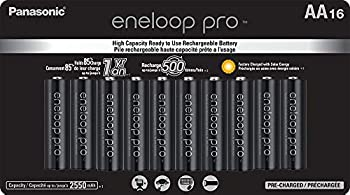 Panasonic BK-3HCCA16FA eneloop pro AA High Capacity Ni-MH Pre-Charged Rechargeable Batteries 16 Pack