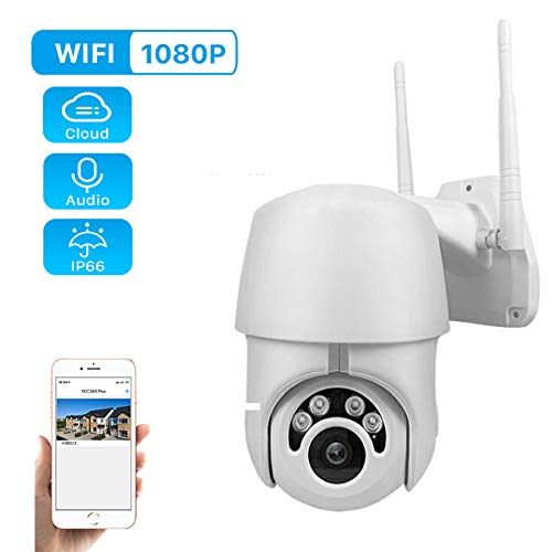 WiFi 1080P PTZ Camera IR Nachtzicht Bewegingsdetectie Live Audio Video Encryptie Wifi Beveiliging IP Camera IP66 Waterdicht 128G Max Cloud Gratis APP