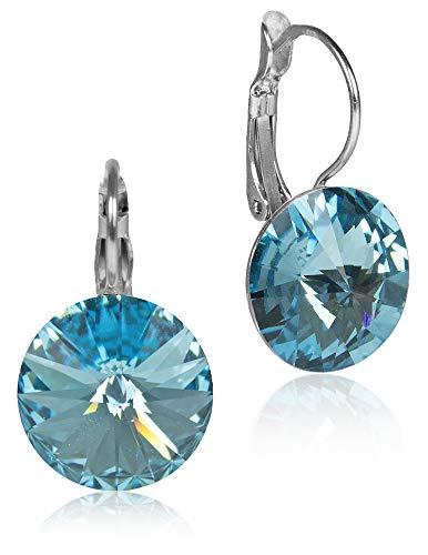 LUISIA® Ohrringe Rivoli mit Kristallen von Swarovski® - 12 mm - Strass Ohrhänger in vielen verschiedenen Farben