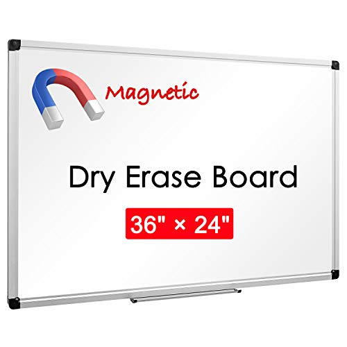 """36"""" x 24"""", Aluminum Alloy Frame, Magnetic Dry Erase Board, White Board, Magnetic Whiteboard, Magnetic White Board, Whiteboard, Honeycomb Core, Large Whiteboard, White Boards for Wall"""