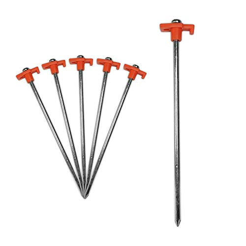 KCT 10 pc Heavy Duty Galvanised Steel Tent Peg Awning Camping Ground Stake