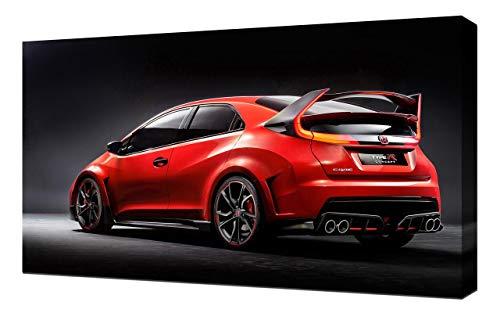Lilarama 2014-Honda-Civic-Type-R-Concept-V3-1080 - Art Leinwandbild - Kunstdrucke - Gemälde Wandbilder