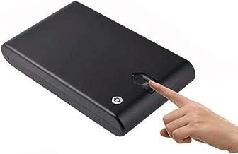GPWDSN Vingerafdruk Veiligheid Kluis Brandwerende Waterdichte Lock Box Kasten Gun Pistool Cash Strongbox Solid Staal Veili...