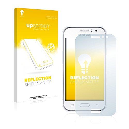 upscreen Entspiegelungs-Schutzfolie kompatibel mit Samsung Galaxy J1 Ace – Anti-Reflex Bildschirmschutz-Folie Matt