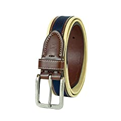 STYLE: If modern men should have something in common, it would be this casual eye-catching Tommy Hilfiger belt. Our belt can be easily coupled with your favorite pair of jeans, khakis, or chinos. The contrasted edges strengthen the fashion design of ...