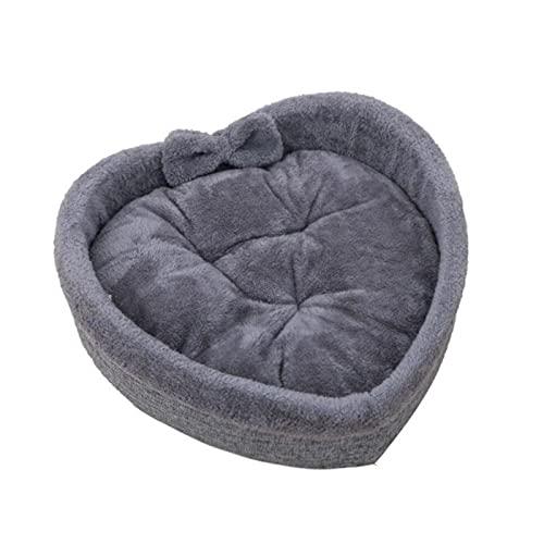 Pink Suave Gato Cama de Perro en Forma de corazón Cama para el Dormir de la casa de Dormir de algodón de algodón Tercito cálido Camas Cuevas Nido para Gatos Perros Perros Accesorios para Mascotas