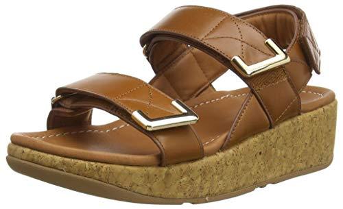 Fitflop Remi Adjustable Back-Strap Sandals, Femme, Bronzage Clair, 42 EU