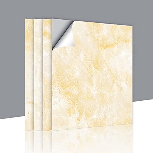 Patrón de mármol de imitación pegatina a prueba de aceite encimera de cocina pegatina de azulejos a prueba de agua pegatina decorativa 30 * 30 CM 12 piezas
