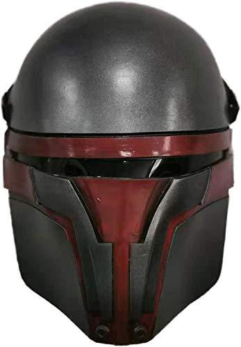 Darth Revan Maske SW Helm Zubehör Cosplay Halloween Party Latex Requisiten (grau)