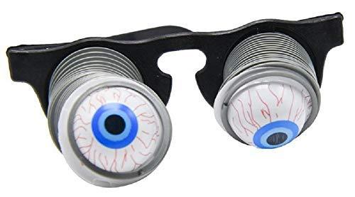 KIRALOVE - Gafas de ojos falsos fuera de las órbitas con muelles, accesorios para carnaval, Halloween, disfraz de zombie espantoso horror tocadiscos para niños adultos y cosplay.