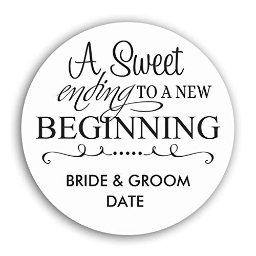 """Personalized Customized Labels Tags,Customizable Stickers Wedding Favor Sticker A Sweet Ending for Business Custom Made Stickers, 100 Stickers2X2"""""""