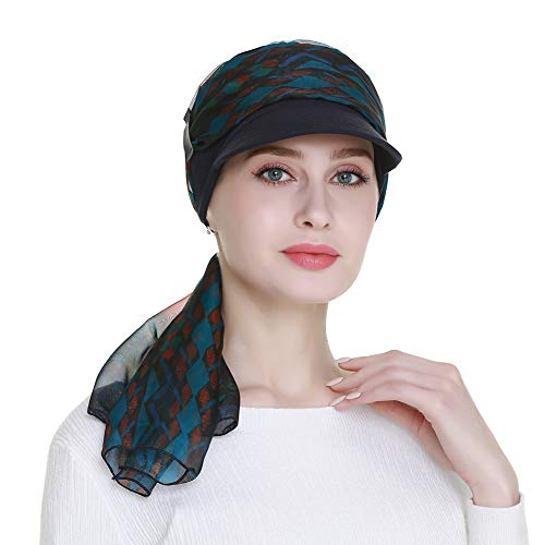 Bamboo Newsboy Hat Sun Caps for Women With Chemo Summer Breast Cancer Hair Loss