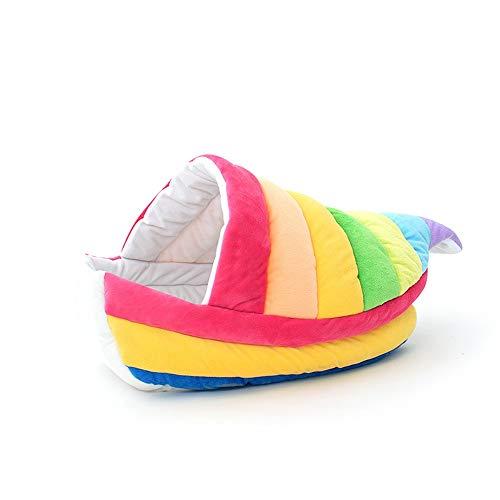 TOMSSL Regenbogen Boot Katzenstreu Große Katze Bett Vier Jahreszeiten Universelle Bunte Kreative Haustier Nest