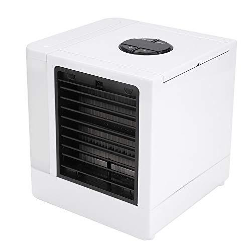 CHENQIAN Blanco portátil del acondicionador de aire del refrigerador ultra con el mini ventilador de escritorio del LED USB 3 modos