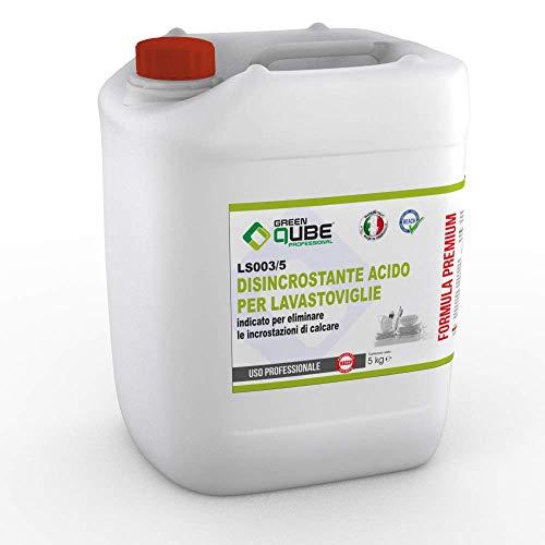 ls003/5 - Disincrostante Professionale Acido per la Manutenzione delle Macchine lavastoviglie e per Le superfici di Acciaio. 5LT