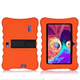 AKNICI 7 Inch Stand Silicone Case for Haehne 7' Tablet PC, YUNTAB 7 Inch Tablet PC Y88X Pro, Dragon Touch 7 Inch Tablet, Q88 Tablet, JINYJIA 7 Inch Kids Tablet, Haehne 7 Inch Tablet PC Cover, Orange
