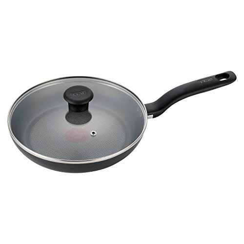 T-fal C51897 Simply Cook Nonstick Dishwasher Safe Cookware 10 Fry Pan with Lid Black