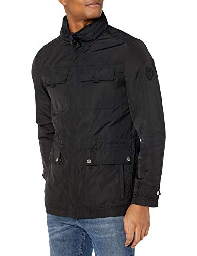 Vince Camuto Men's Field Jacket with Hood, Black, M