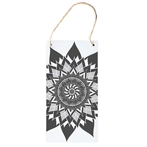 Bohohobo Pattern Wooden Hang Painting Vertical Sign Wooden Sign Art Decoration Hanging Wooden Painting With Twine Rope Best Gift For Club white 12.5 * 25cm