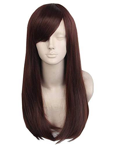 Topcosplay Womens Wig Dark Brown Cosplay Wigs Long Wavy Halloween Costume Wigs