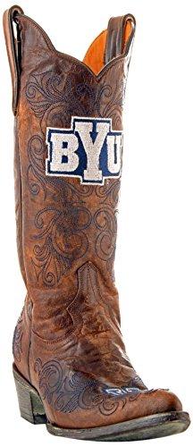 Gameday Boots NCAA BYU Cougars Damen 13 Zoll, Damen, BYU-L029, Messing, 8.5 B (M) US