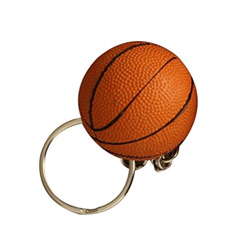 TOYMYTOY Llavero de baloncesto con colgante de 4 cm (superficie rugosa naranja)