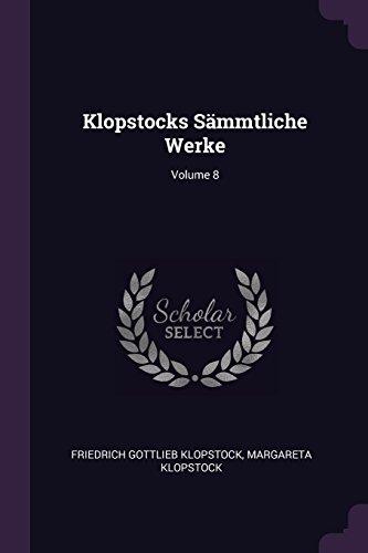 KLOPSTOCKS SAMMTLICHE WERKE V0