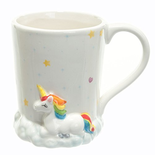Bamboo's Grocery Unicorn Mug, Inspirational Unicorn Mug for any Magical Occasions, I Don't Believe in Humans, 350ml