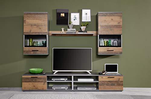 Wohnwand Set Holz, mit viel Stauraum Bild 3*
