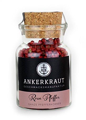 Ankerkraut Rosa Pfeffer (Schinusbeere), rosa Beeren, perfekt für Gin Tonic, 45g im Korkenglas