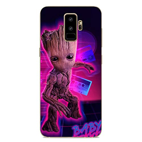 Mosku Clear Case for Samsung Galaxy S9 Plus, MV-Groot Baby 4 Coque Silikon Thin Soft Crystal Rubber Anti-Slip