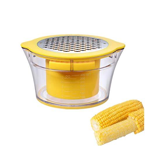 Pelador de mazorca de maíz de cocina, apto para lavavajillas, antideslizante, sin electricidad, sin ruido, reutilizable, fácil de usar y limpiar