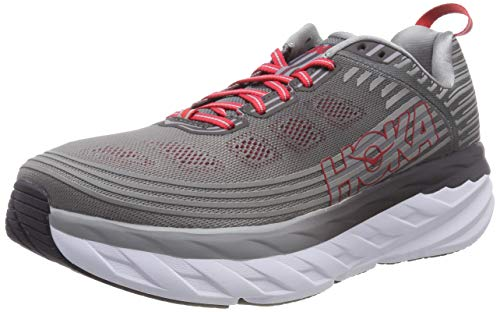 HOKA ONE ONE Men's Bondi 6 Running Shoe Alloy/Steel Grey Size 10.5 M US