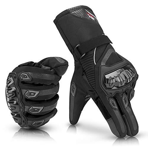 JOYTUTUS Motorradhandschuhe Winter, Touch Screen Handschuhe, CE 2KP geprüfte Motorrad Handschuhe Winter, Wasserdicht Winddicht Sporthandschuhe Warm Handschuhe (xxl)