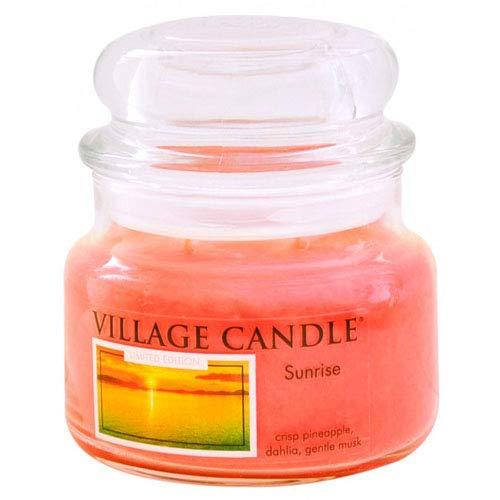 Village Candle Sonnenaufgang kleine Duftkerze im Glas, 312 g, orange, 9.6 x 9.3 cm