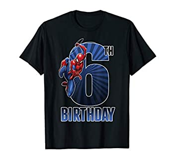 Marvel Spider-Man Swinging 6th Birthday Graphic T-Shirt