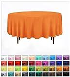 Rollmayer Uni Rund TISCHDECKE TISCHTUCH Oval TISCHWÄSCHE PFLEGELEICHT TISCHLÄUFER 40 Farben! (Orange 6, Oval 120x180cm)