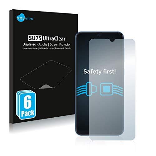 savvies Protector Pantalla Compatible con Samsung Galaxy A20   A30   A50   M30 (6 Unidades) Pelicula Ultra Transparente