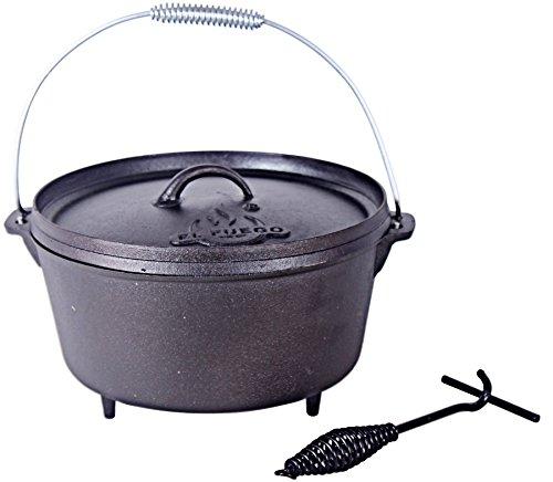 El Fuego Dutch Oven 11,28 L, schwarz