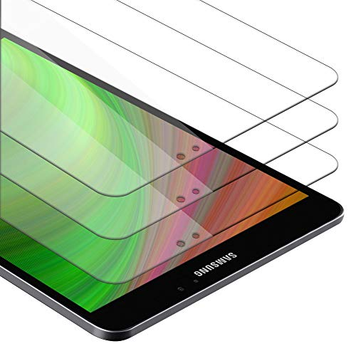 """Cadorabo Película de Armadura 3X Compatible con Samsung Galaxy Tab S2 (8.0"""") SM-T715N / T719N - película Protectora en Transparencia ELEVADA Paquete de Vidrio Templado en dureza 9H"""