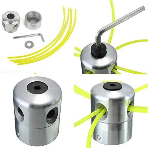 Cabezal de aluminio para desbrozadora de césped, doble cabezal de hilo, hilo de nailon para desbrozadora de gasolina