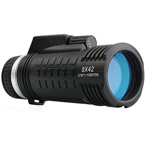Binoculares de alta potencia, telescopio monocular resistente al agua 8X42, visor monocular a prueba de niebla con telémetro de brújula incorporado, para observación de aves, camping, senderismo