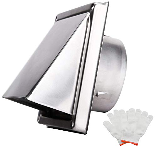 AHLSRHZ Square Air Vents Wall Louver Grilles Metal Cover Outlet Soffit Vents Exhaust Grille Dryer Hose Hood (4