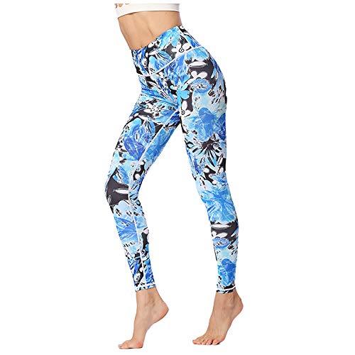 GYDD Womens Athletic Yoga-Hosen, Leichte Gedruckte Trainings-Yoga-Leggings-Fitness, Mädchenhosen-Trainings-Yoga-Leggings Strumpfhosen, (S-XL) D-M