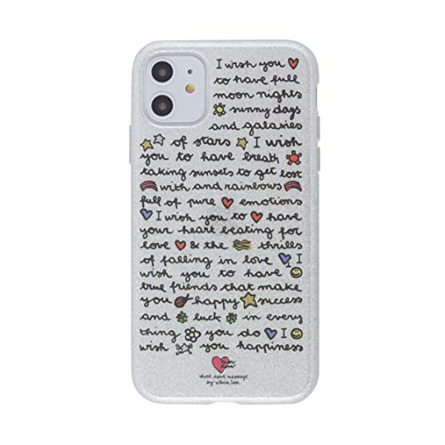 tum tum by silvia tosi Cover Custodia Compatibile con iPhone 11 - Antiurto ed AntiGraffio - Retro di Glitter Argento - Wish - Protezione Frontale rialzata - Flessibile e Slim -Protezione Tasti
