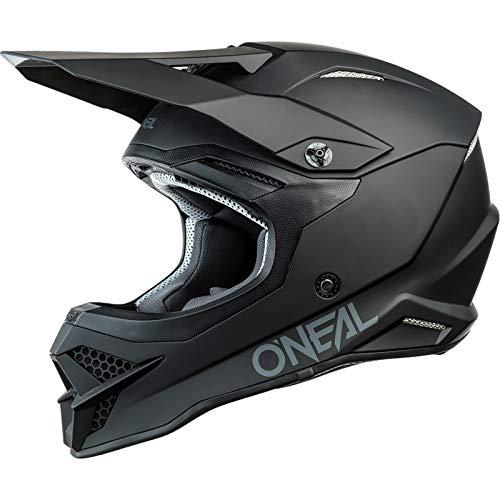 O'NEAL   Casco de Moto   Motocicleta, Enduro   Estándares de Seguridad ECE 22.05, respiraderos para una óptima ventilación y refrigeración   Casco 3SRS Solid   Adultos   Negro   Talla S