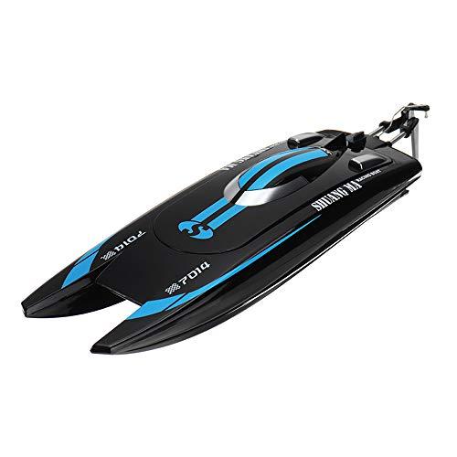 LinGo RC Barcos 30 Km/H 2,4G Barco De Competición De Alta Velocidad Sistema De Refrigeración por Agua Barco De Pesca De Dos Vías Timón De Navegación Juguetes RC Regalo De Juguetes para Niños,A